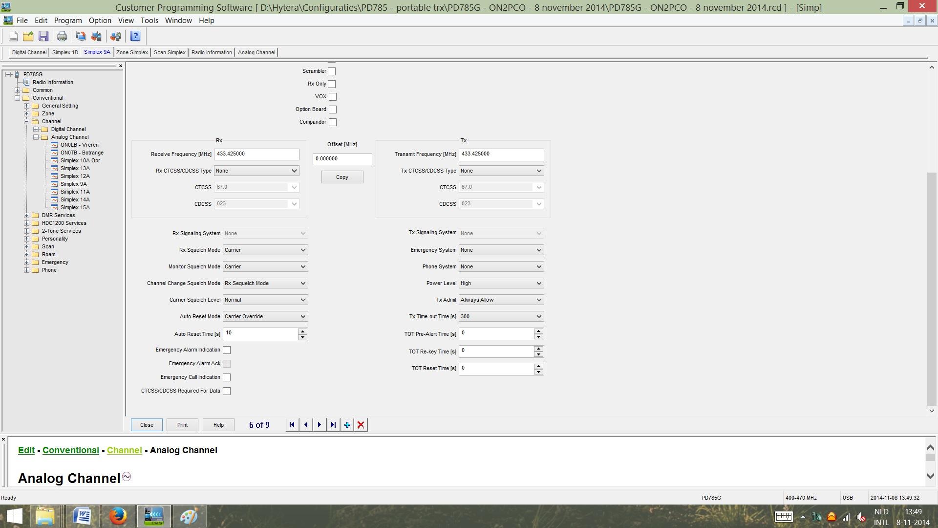 FIGUUR 6 - Channel Simplex Analoog - deel 2