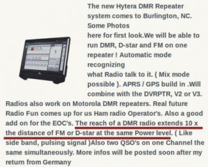 Repeater DMR range