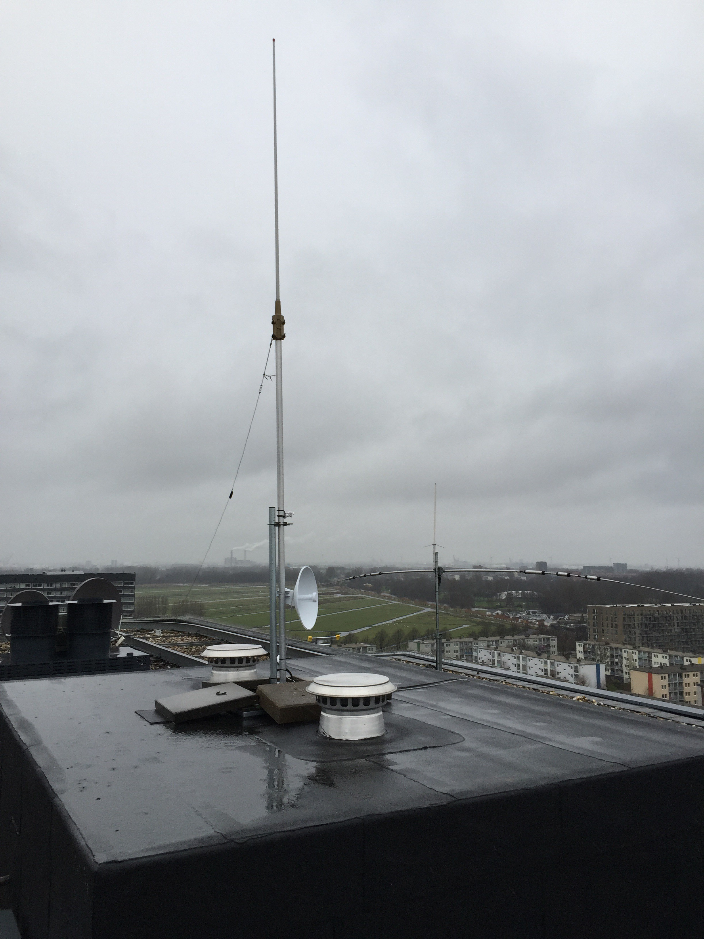 Vaste opsteling Powerbeam M5-400 Antenna 25dBi en Repeaters Amsterdam West site