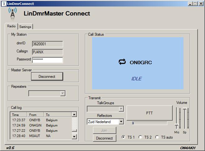 LinDMRMasterConnect